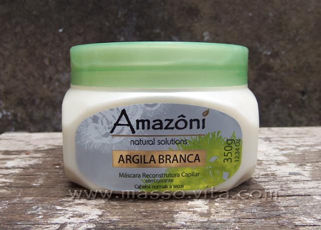 Máscara Reconstrutora Amazoni Argila Branca