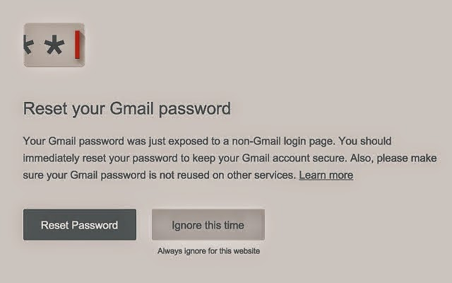 Google, Google Inc, Google Chrome, password alert, Password Alert, Pishing,