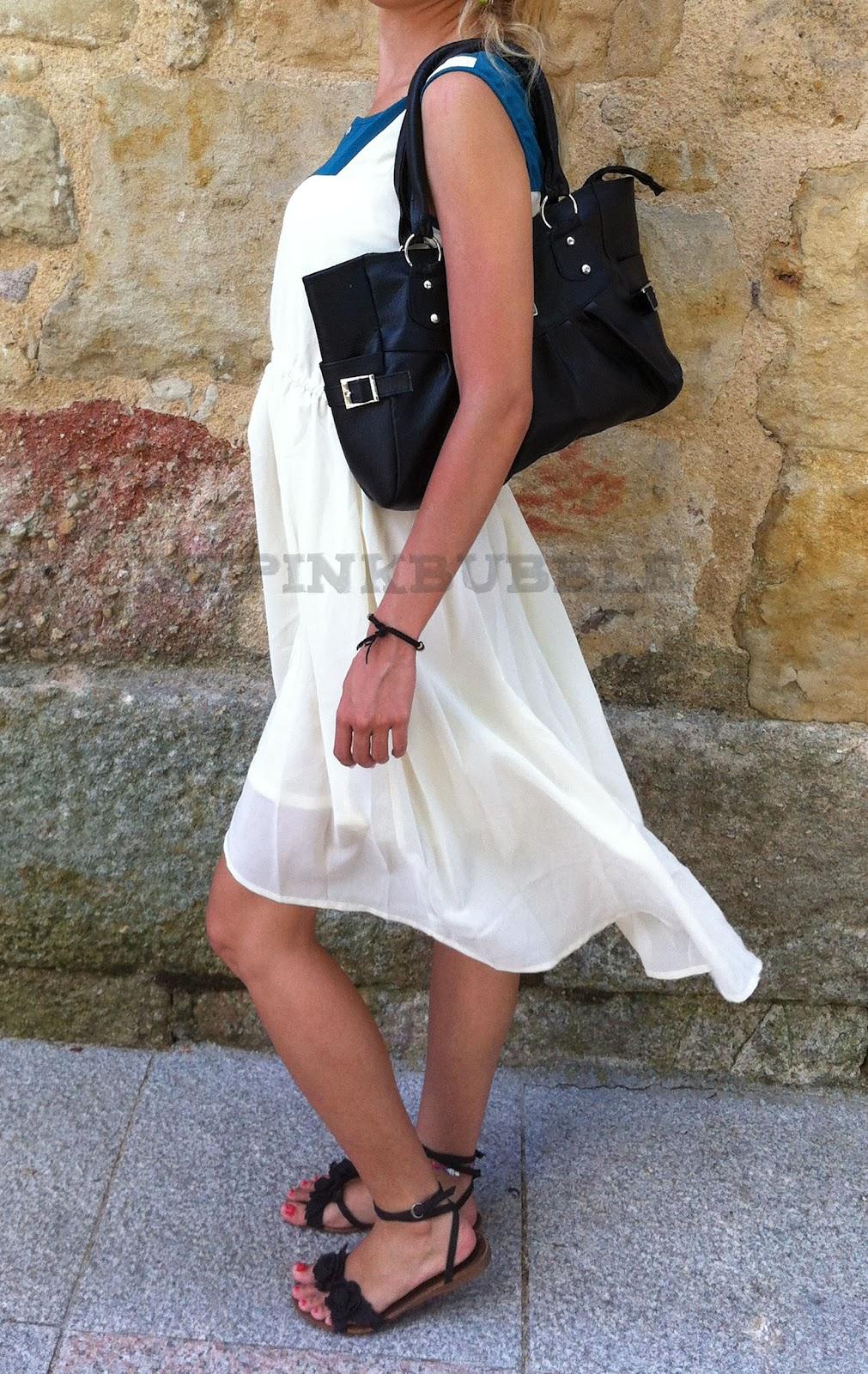 outfit vestido esmeralda sheinside