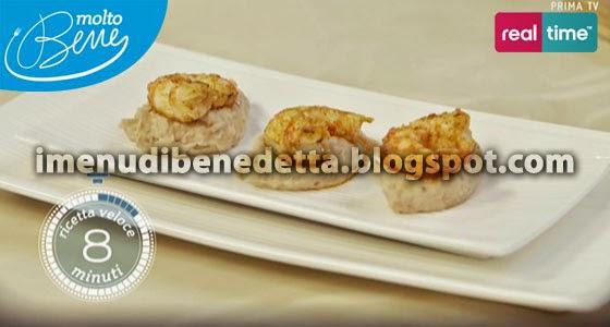 Hummus di Fagioli con Gamberi Piccanti di Benedetta Parodi