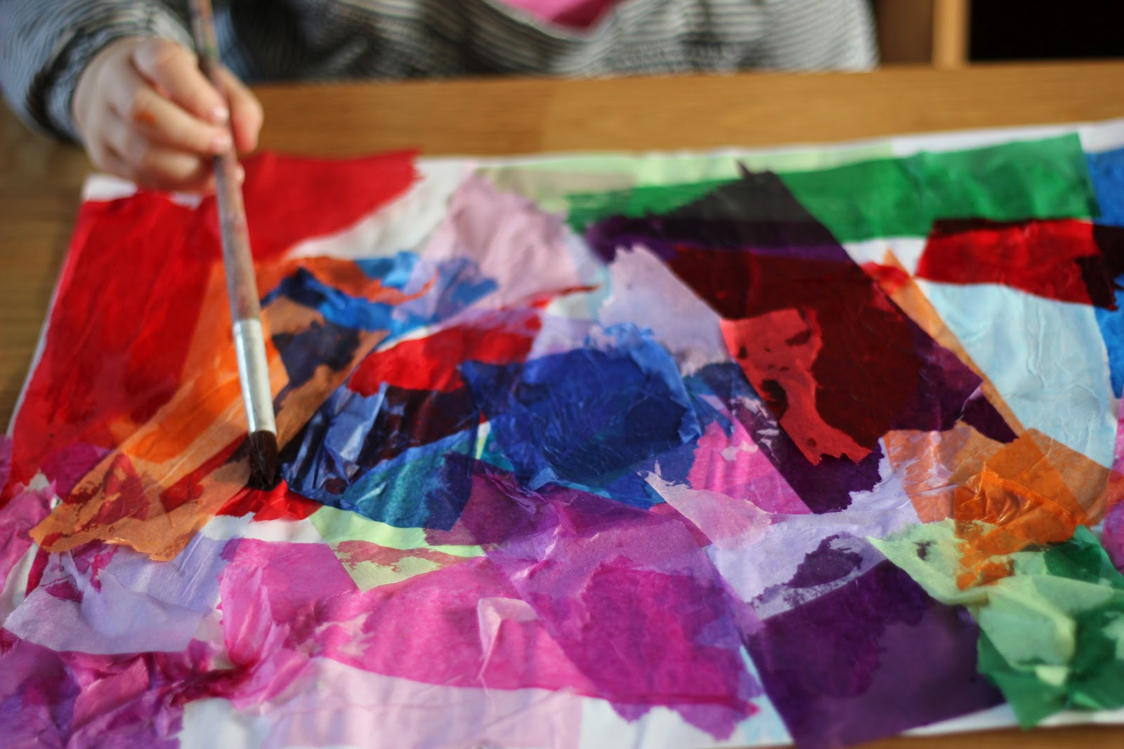 "bleeding art tissue paper Bleeding tissue paper art - painting"" with tissue paper is not only fun but beautiful this craft requires bleeding art tissue paper not regular wrapping tissue paper."