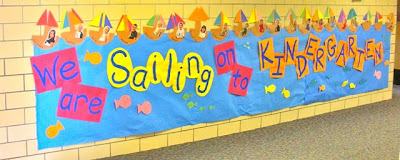 Preschool graduation bulletin board idea