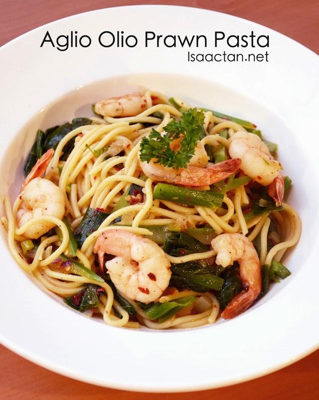 Aglio Olio Prawn Pasta - RM24.90