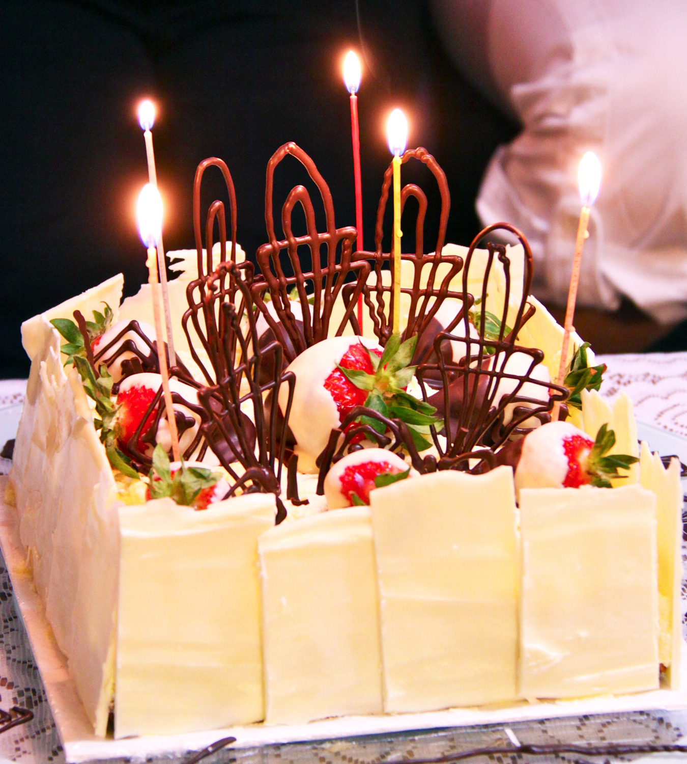 Strawberry Chocolate Birthday Cake