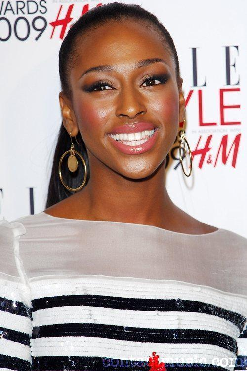 Alexandra Burke black long hairstyles