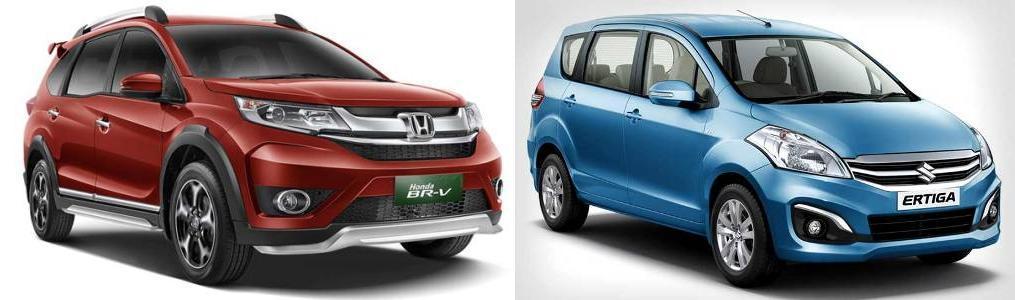 Honda BRV vs Ertiga Comparison