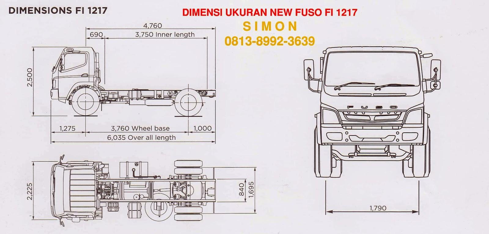 varian terbaru mitsubishi new fuso fi 1217 fuso 170 ps