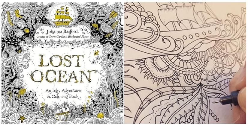 Ocean Buku Ketiga Johanna Basford Yang Baru Akan Terbit Oktober 2015 Nanti Sepertinya Ini Lebih Mengasyikkan Bagi Saya Pencinta Warna Biru