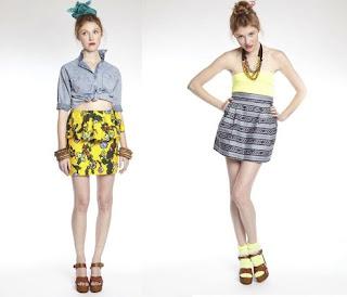 summery skirts