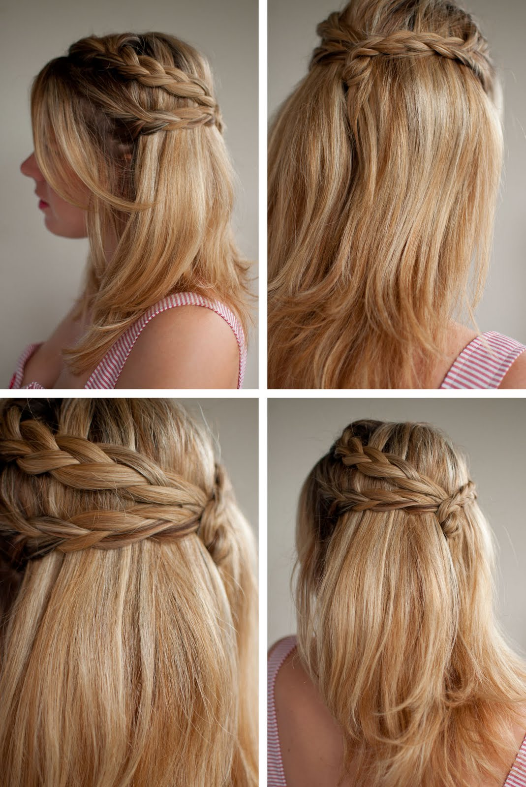 Simple Bridesmaids Hairstyles Down Half of the half down