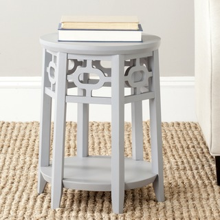 Overstock Safavieh Adela Charcoal Grey Side Table