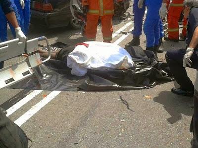 Lelaki Putus Kepala, Gambar Kemalangan Ngeri, rembau, berita, terkini