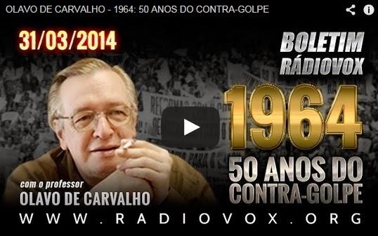 (Vídeo 1:01:57) - Contra-Golpe de 1964 - Entrevista com o Professor Olavo de Carvalho