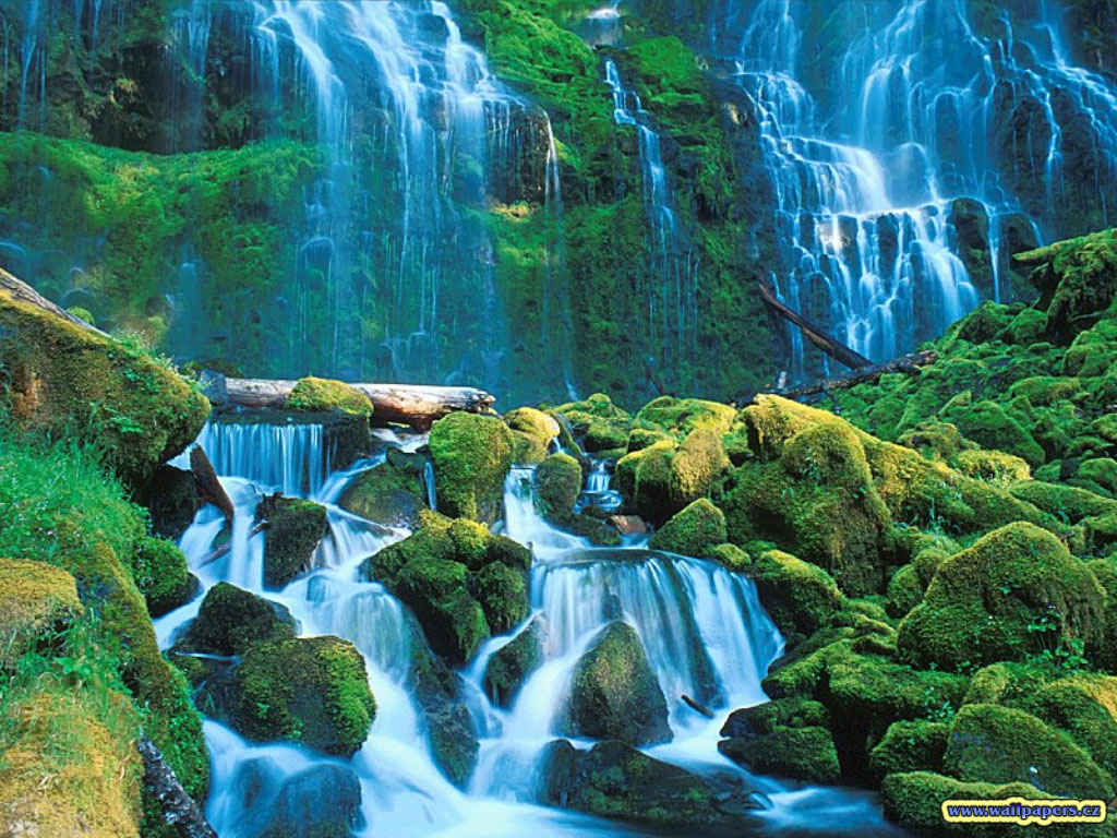 3D NATURE WALLPAPER WATERFALL