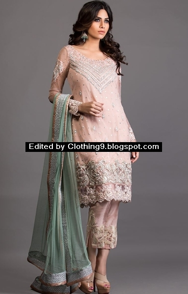 New pakistani wedding dresses bridal party wears 2016 for Pakistani dresses for wedding parties