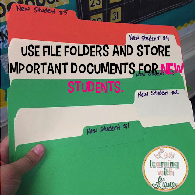 file folders, new students, easy teaching tools