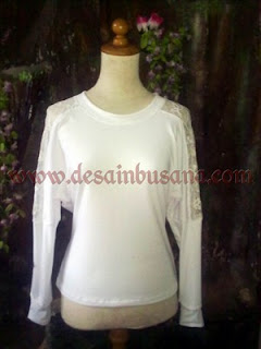 Model Kaos Batwing Brokat