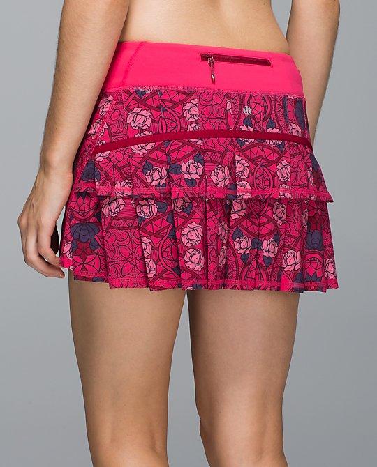 lululemon prisma multi guava lava pace setter skirt
