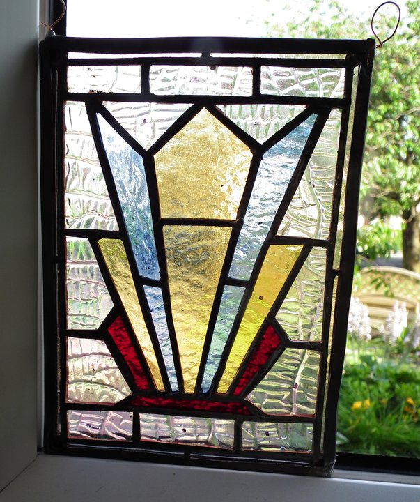 My second stained glass piece: a pretty sad display of incompetence.