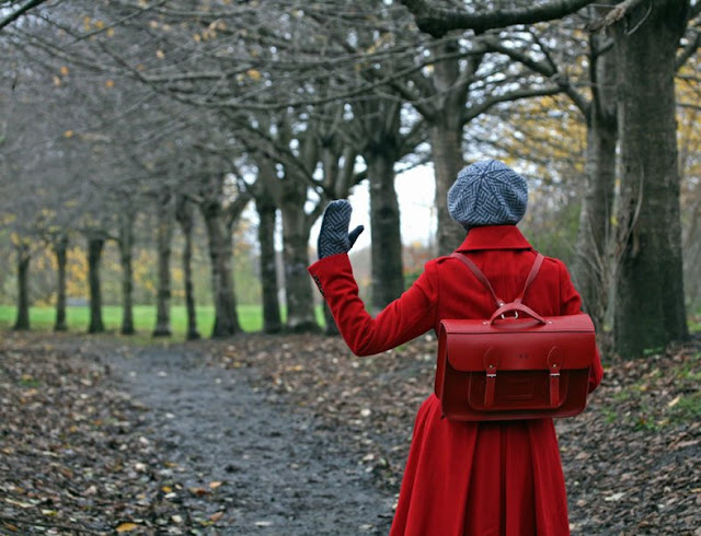 The Cambridge Satchel Company red backpack