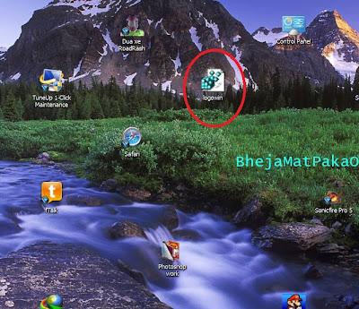 save .bmp file on desktop for ease