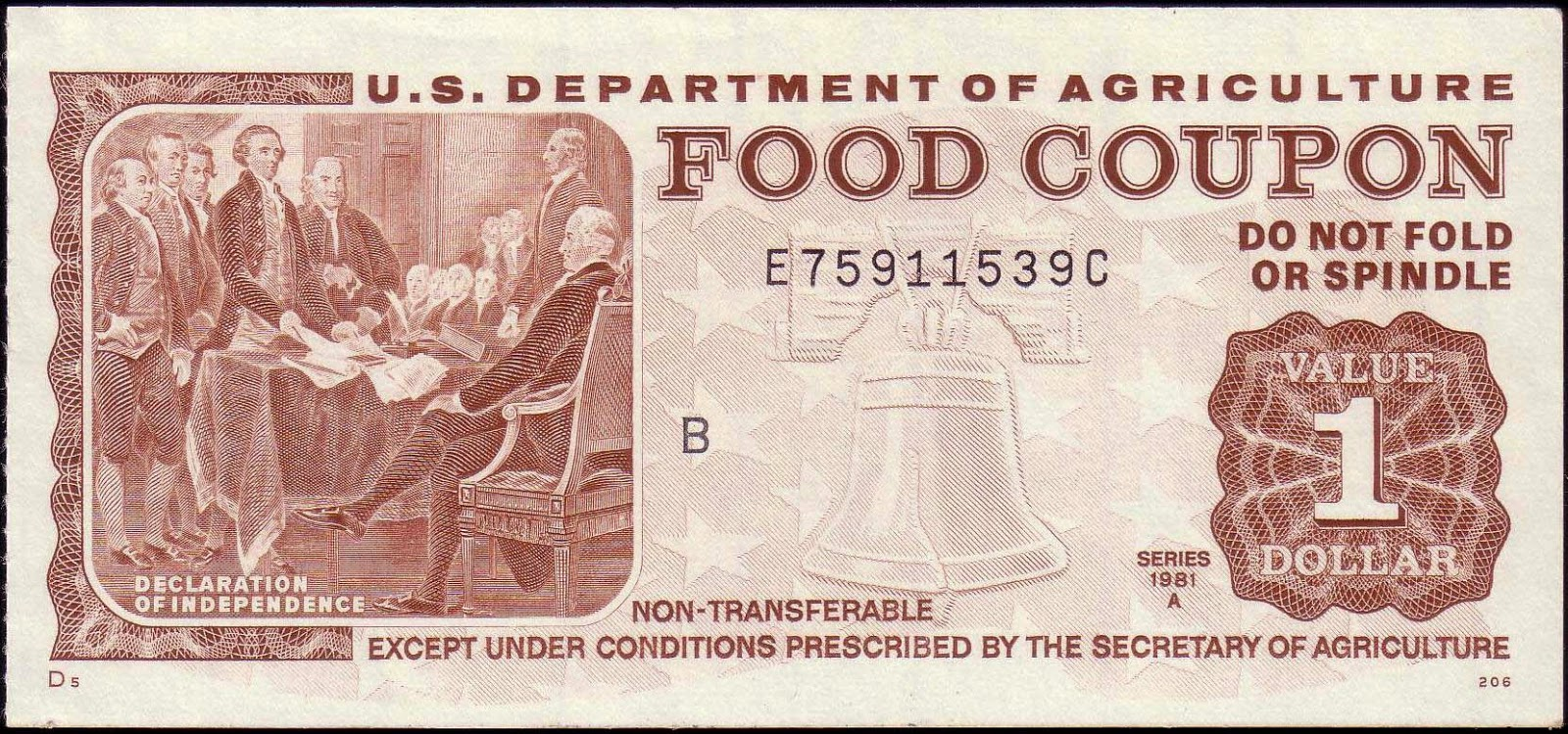 Old Food Stamp Bills