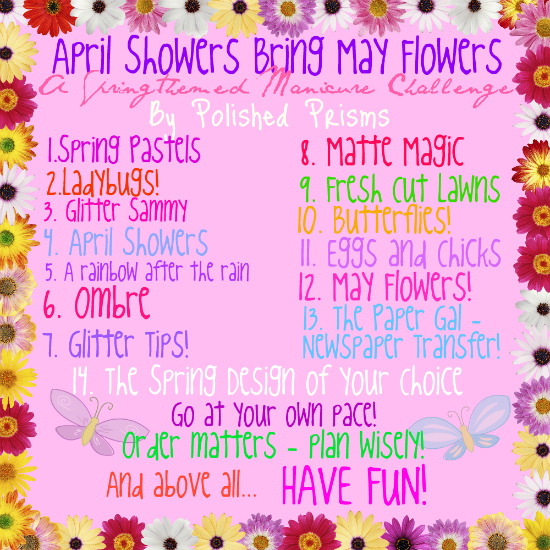 Manicurator april showers bring may flowers challenge ladybugs april showers bring may flowers challenge ladybugs mightylinksfo