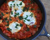 September - Shakshuka (Eggs Nested in Summer Vegetables)