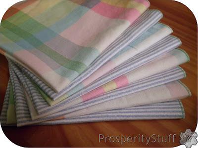 ProsperityStuff Napkins - pastel plaids & stripes