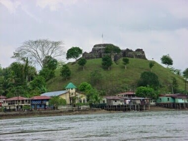 Castillo La Inmaculada y el río San Juan, Nicaragua