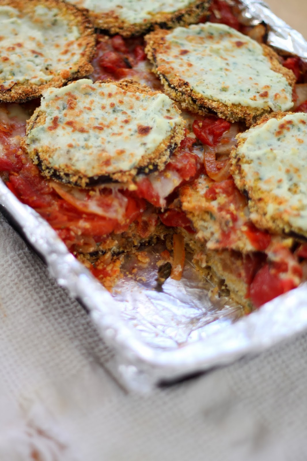 ... Dinners: Cornmeal Crusted Eggplant and Roasted Tomato Lasagne