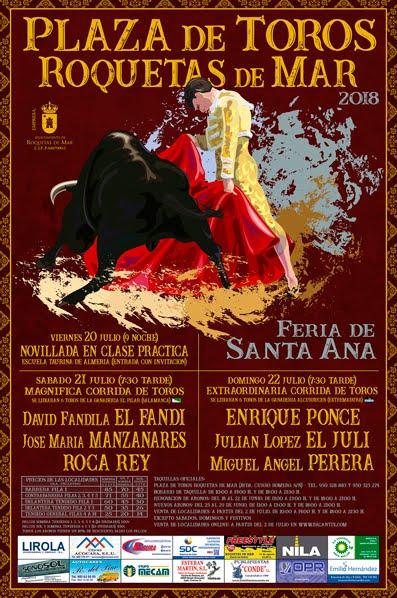 ROQUETAS DE MAR (ESPAÑA) FERIA TAURINA DE SANTA ANA.