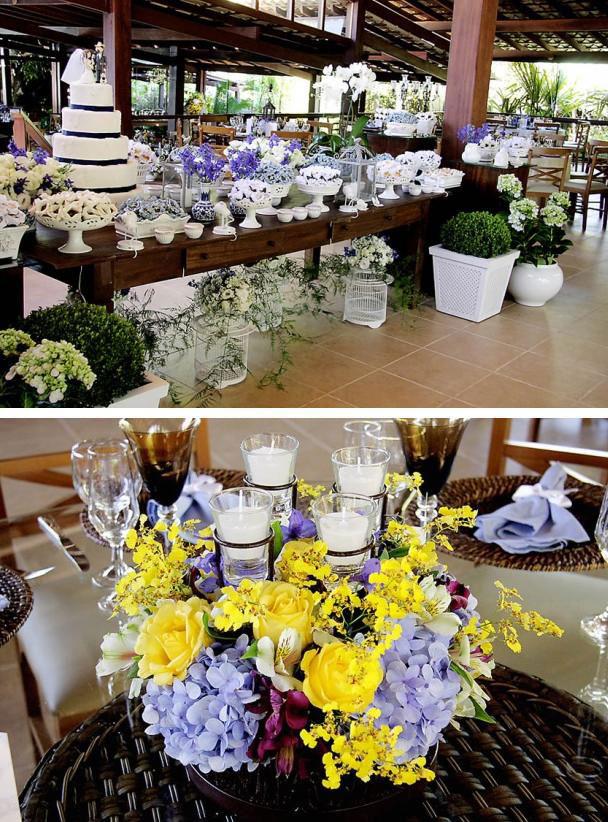 decoracao de igreja para casamento azul e amarelo : decoracao de igreja para casamento azul e amarelo: na medida: Inspiração – Decoração nas cores Azul, Amarelo e Lilás