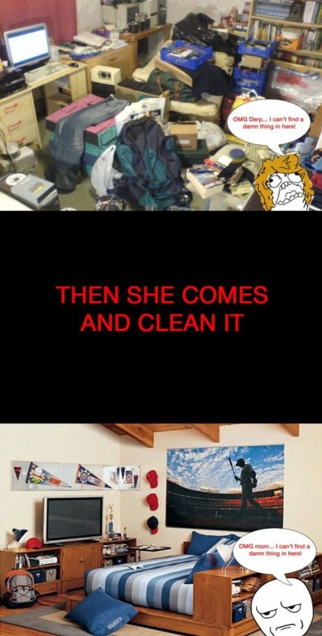 Mom and cleaning my room funny comic