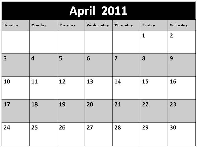 2011 calendar april easter. April+2011+calendar+