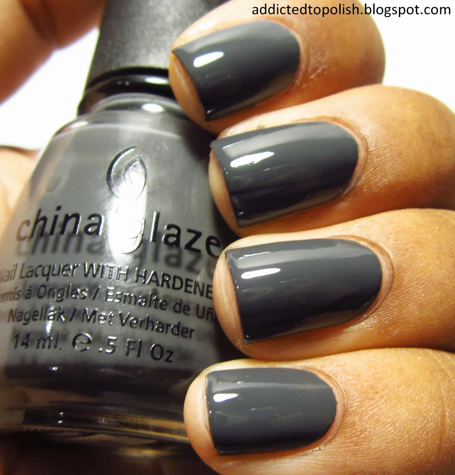 China Glaze Grey Nail Polish