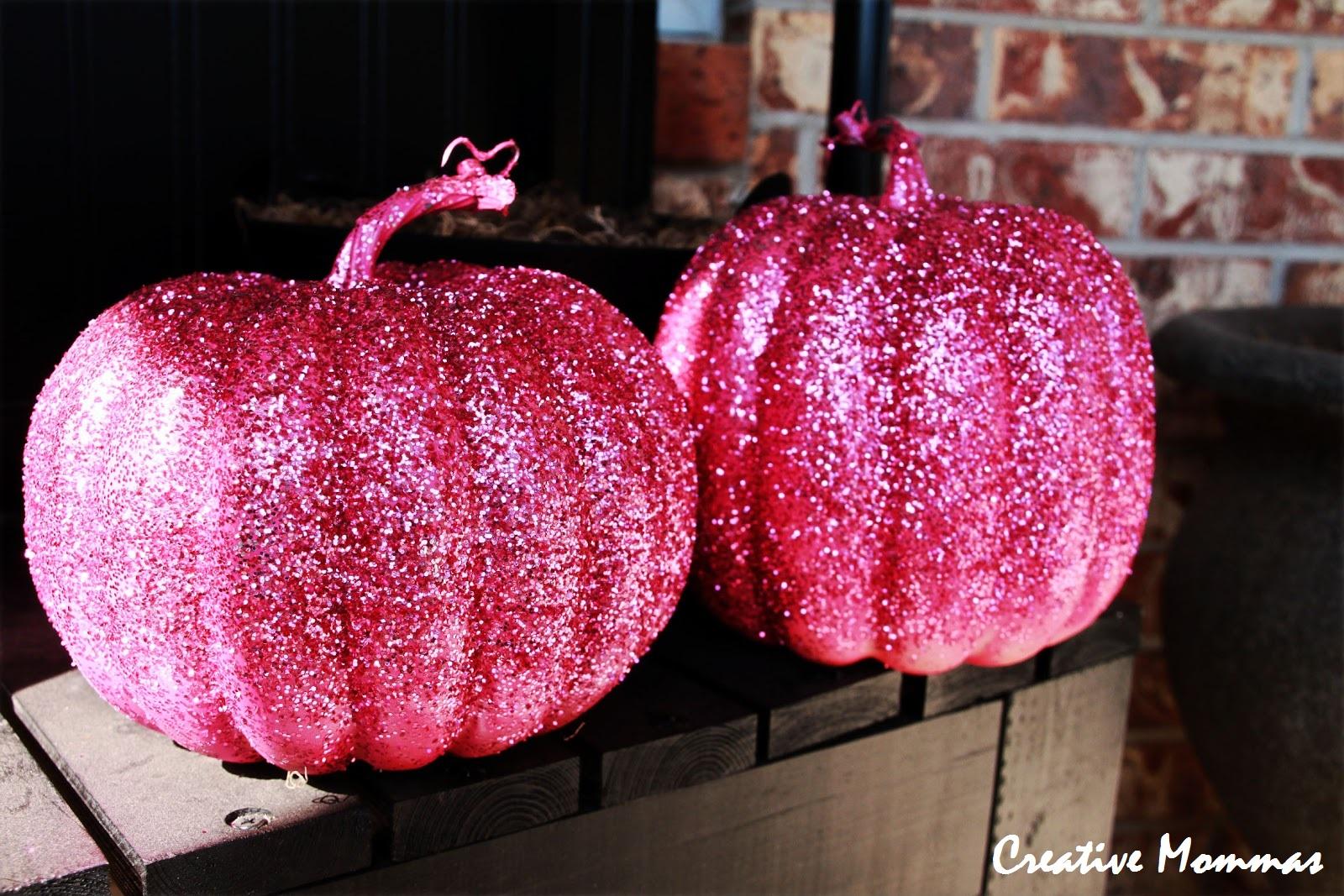 halloween decorations glittered pumpkins - Glitter Halloween Decorations