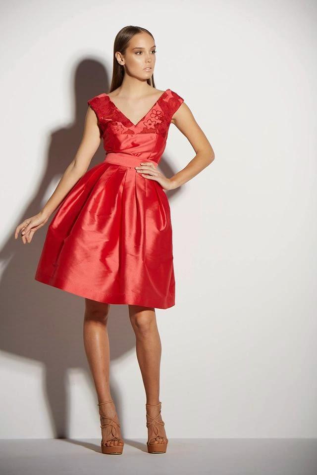 Coctail φορεμα ταφτα για γαμο !