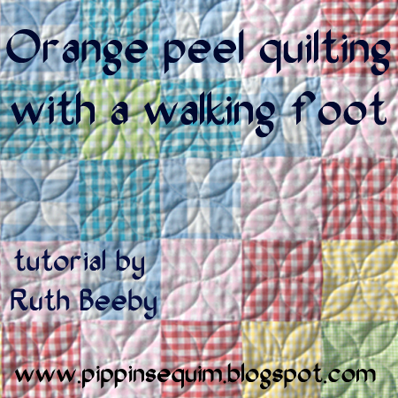 Quilting Patterns Using Walking Foot : Pippin Sequim: Orange Peel quilting with a walking foot