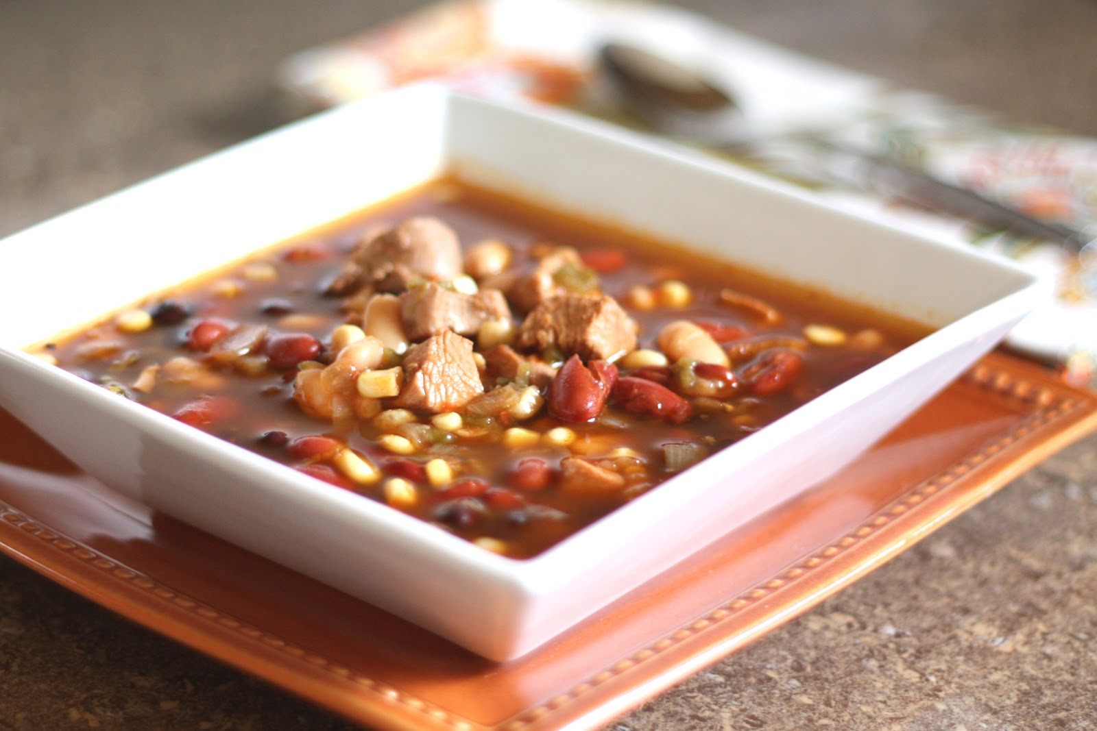 Barefeet In The Kitchen: Spicy Southwest Turkey and Four Bean Soup