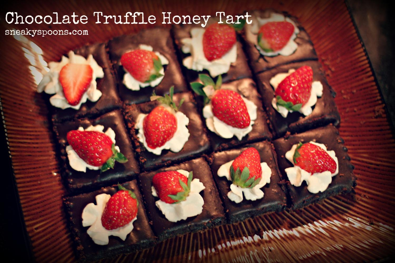 Chocolate Honey Tart with Strawberries