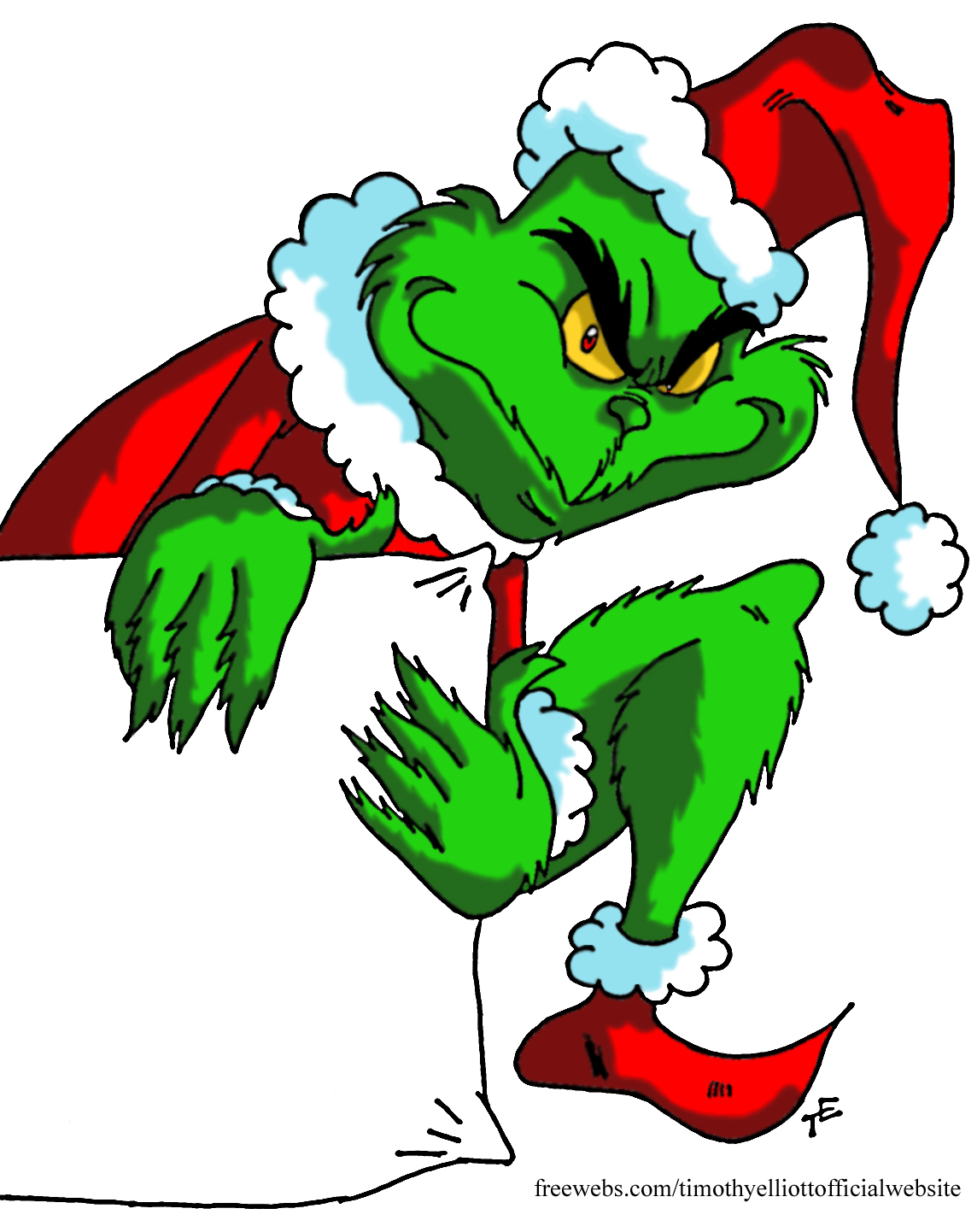 This is a picture of Resource Grinch Images Cartoon