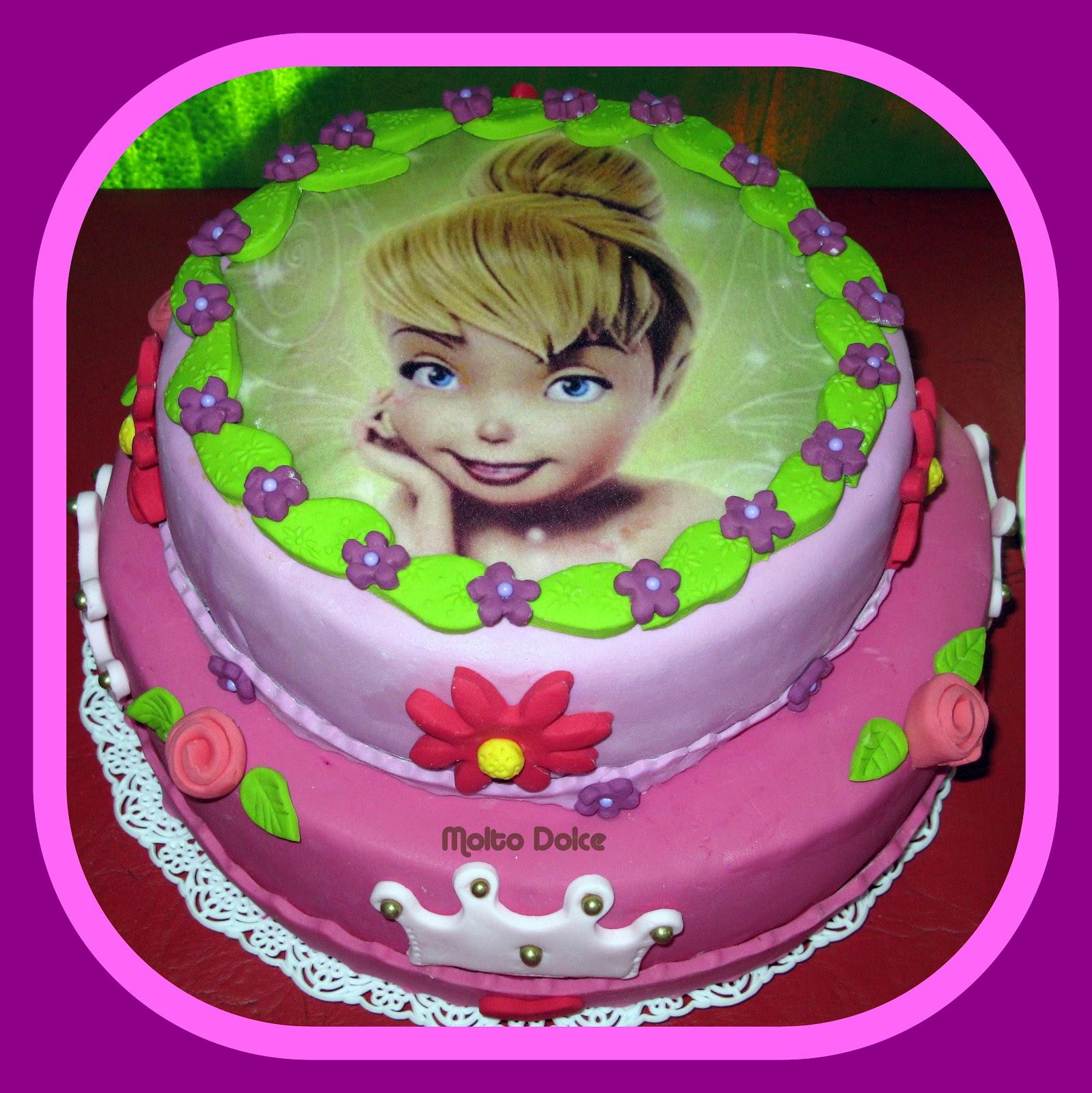 molto dolce: Torta decorada y minicupcakes Tinkerbell y princesas