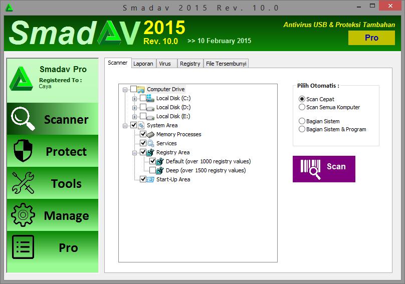 Download Smadav Pro 2015 Rev. 10.0 Terbaru Full Version