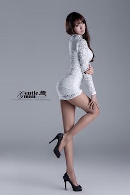 Park Hyun Sun Sexy Race Queen White Dress