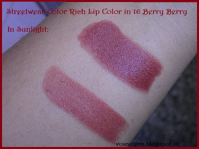 Street Wear Color Rich Lip Color in shade 16 Berry Berry Swatch