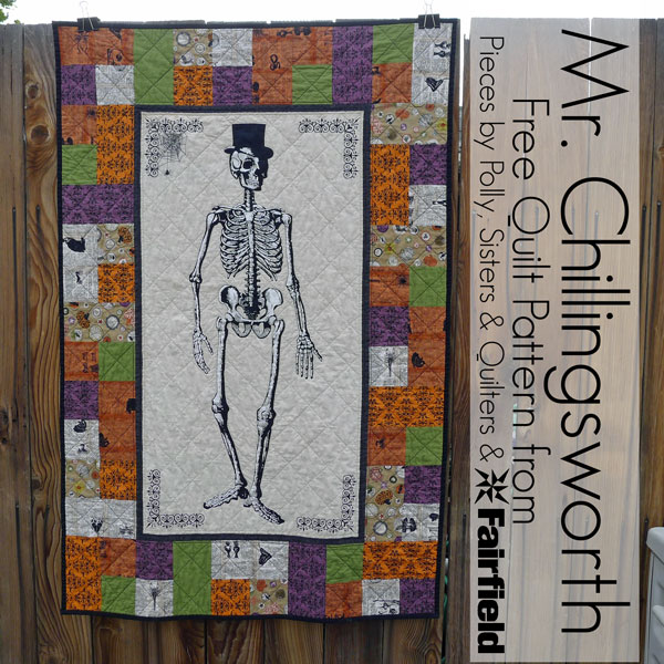Pieces by Polly Mr Chillingsworth Halloween Quilt Free Halloween Impressive Quilt Patterns Using Panels