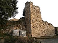 El mur de migdia del Castell de Fitor o d'Esparreguera
