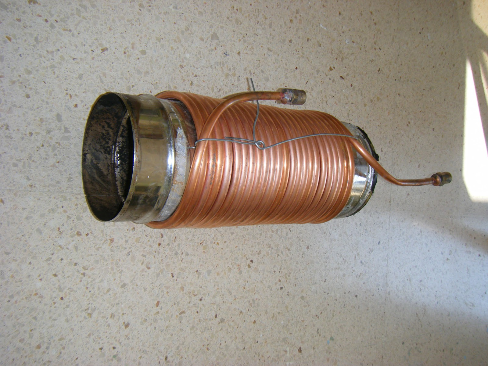 Brian ellul blog fireplace water heating system part 1 for Copper pipe heater