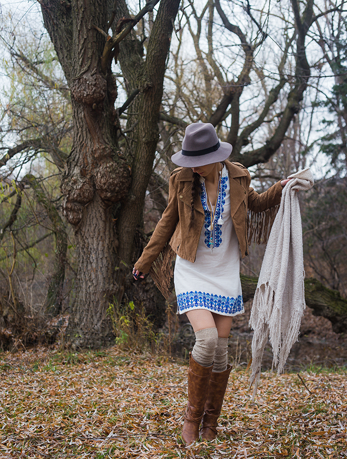 Fringe-Suede-Jacket-Spell-designs-santorini-dress